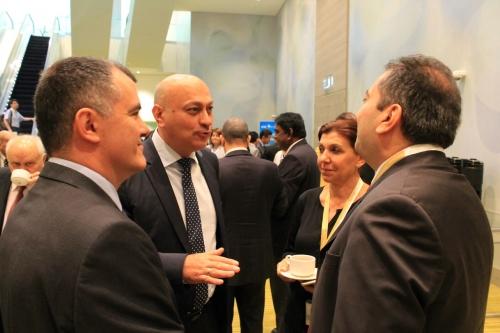 Soldan sağa Ian Dobretanu,GM Zurab Azamiparashvili, Gülkız Tulay, Özgür Solakoğlu