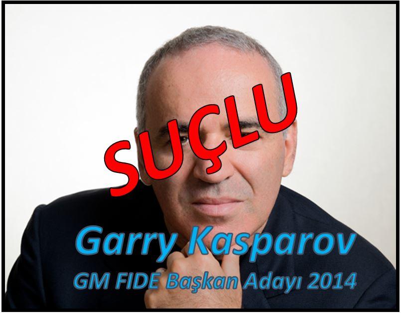 Garry Kasparov Büyük Usta 2014 FIDE Başkanlık Seçimleri Başkan Adayı