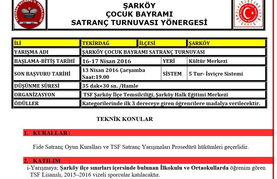 Şarköy Turnuvası